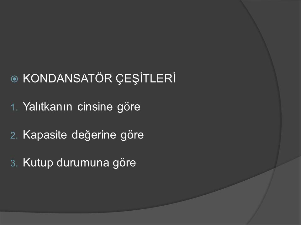 KONDANSATÖR ÇEŞİTLERİ