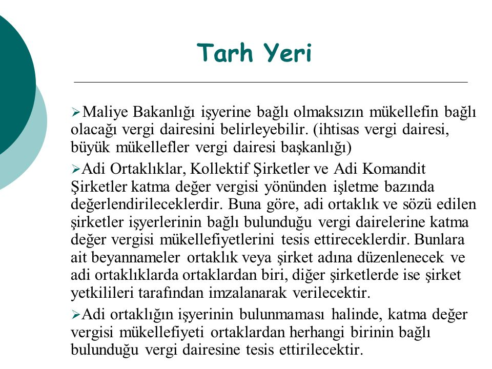 Tarh Yeri