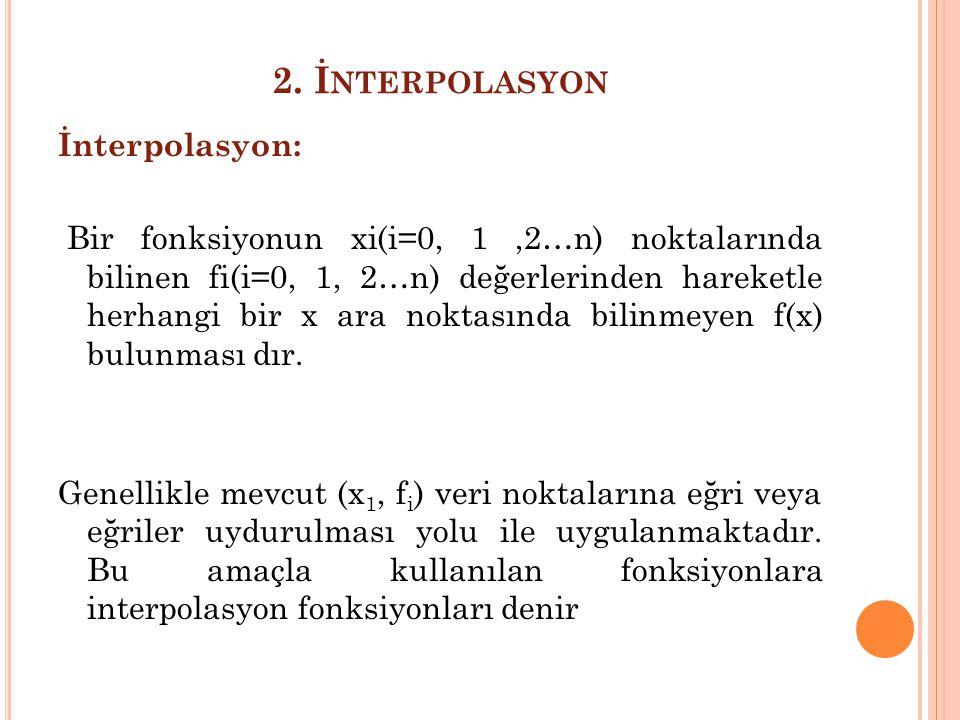 2. İnterpolasyon