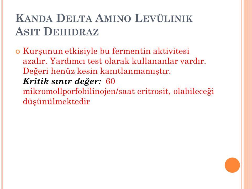 Kanda Delta Amino Levülinik Asit Dehidraz