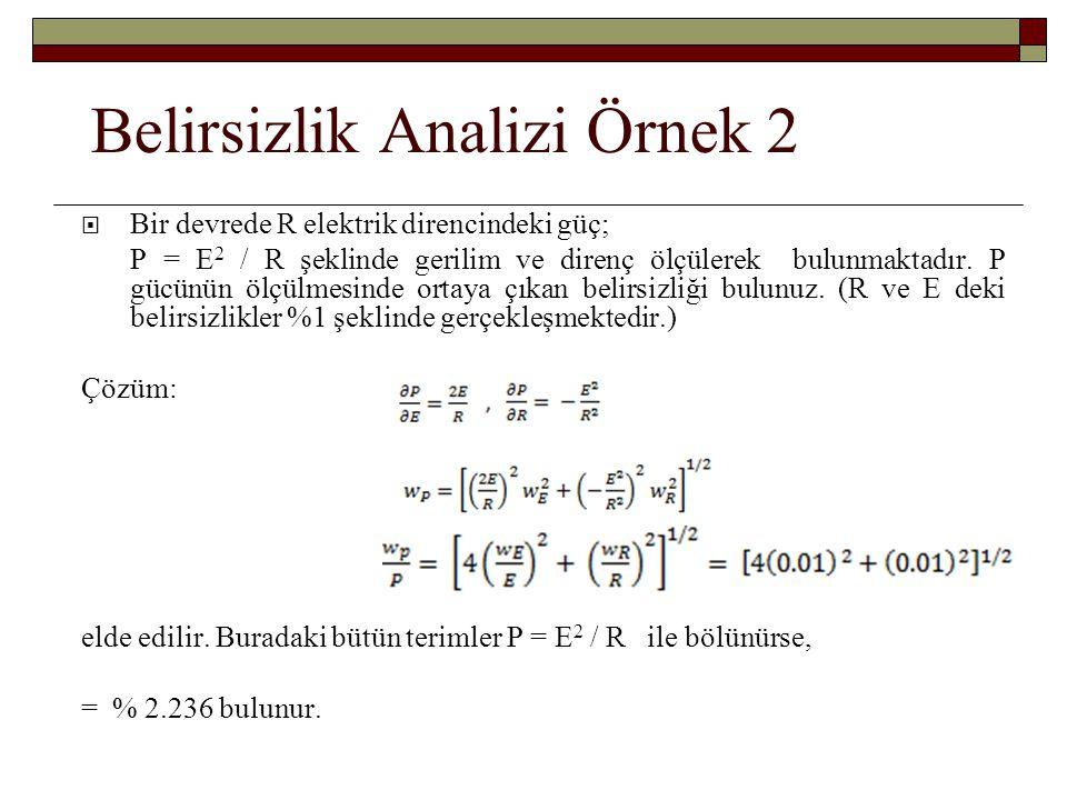 Belirsizlik Analizi Örnek 2