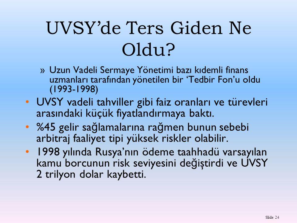 UVSY'de Ters Giden Ne Oldu