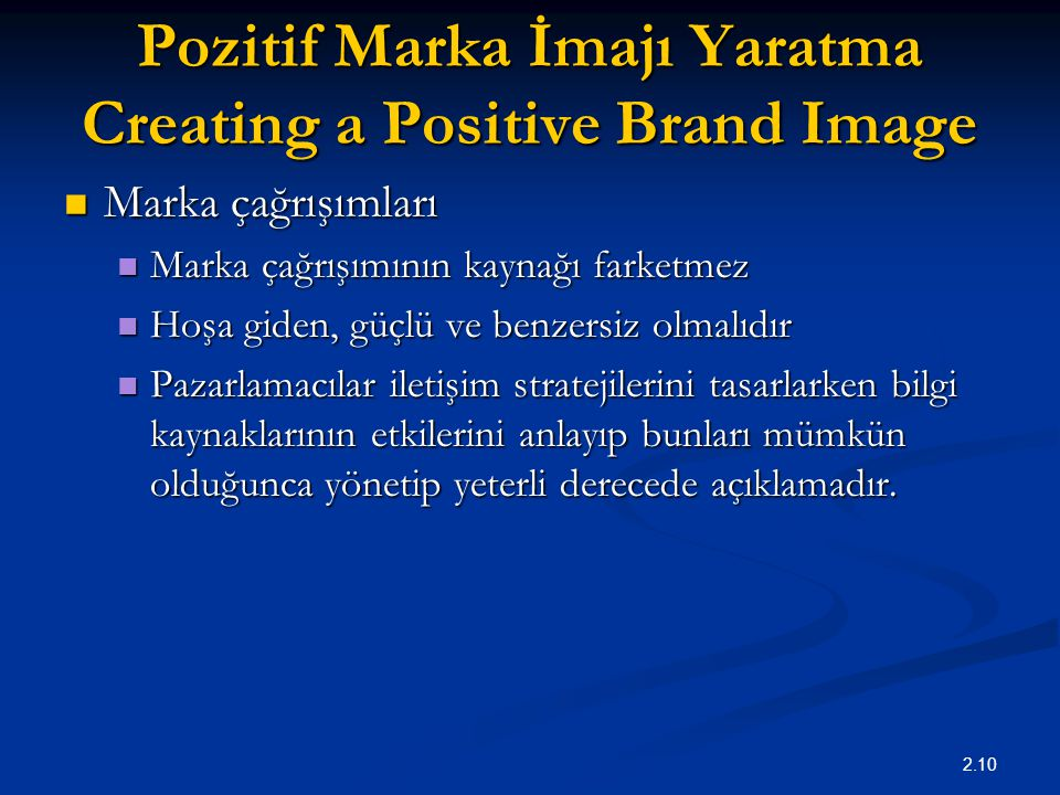 Pozitif Marka İmajı Yaratma Creating a Positive Brand Image