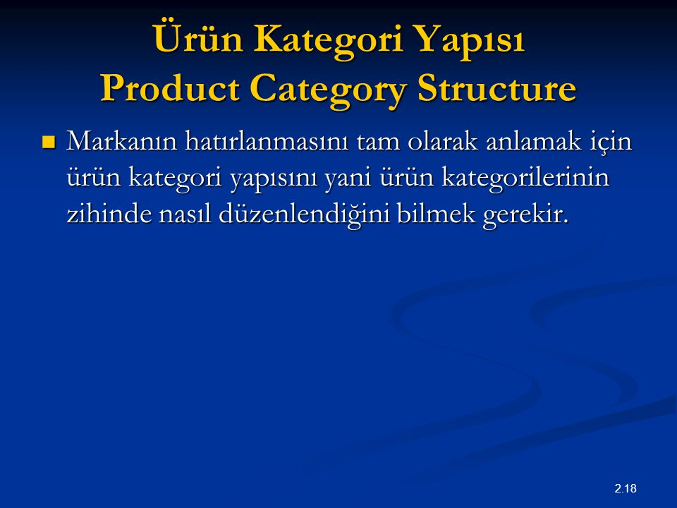 Ürün Kategori Yapısı Product Category Structure