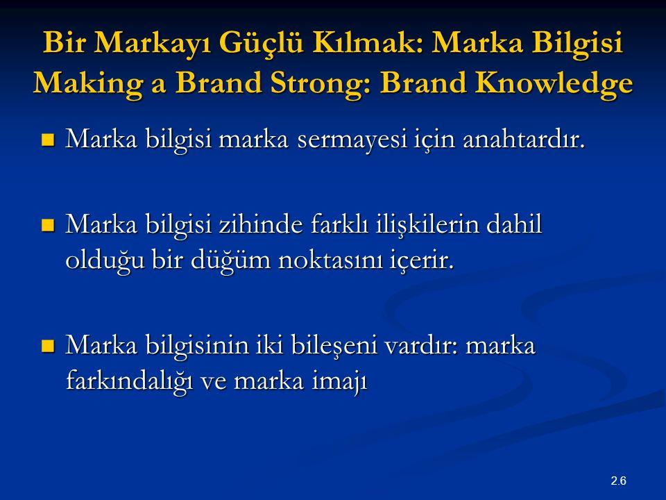 Bir Markayı Güçlü Kılmak: Marka Bilgisi Making a Brand Strong: Brand Knowledge