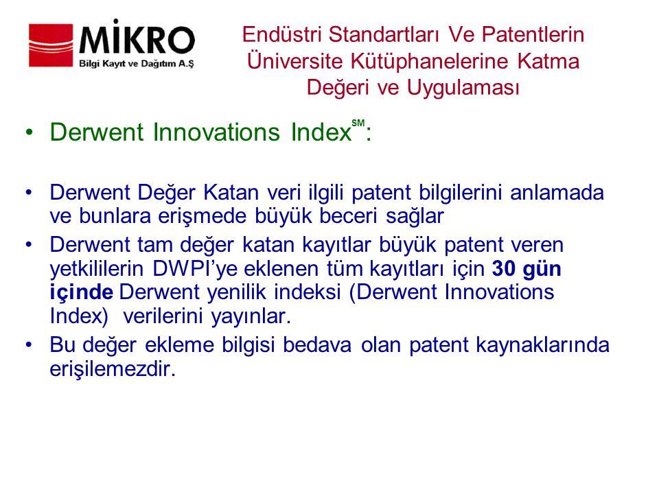 Derwent Innovations IndexSM: