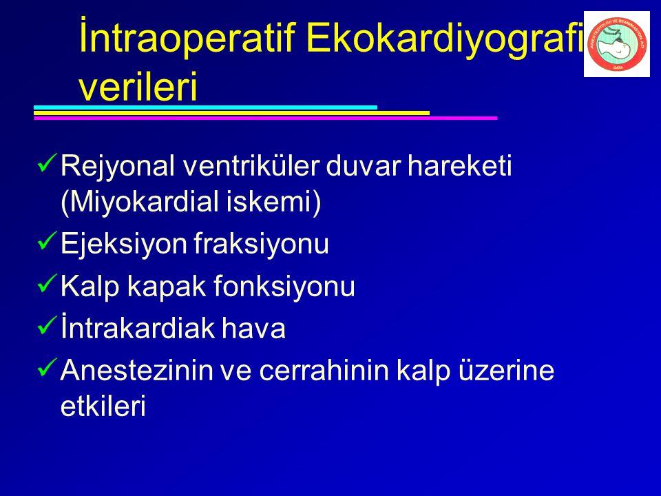 İntraoperatif Ekokardiyografi verileri