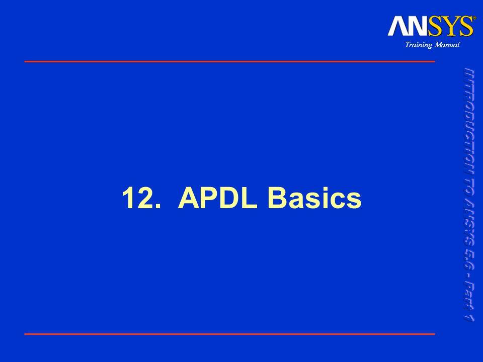 12. APDL Basics