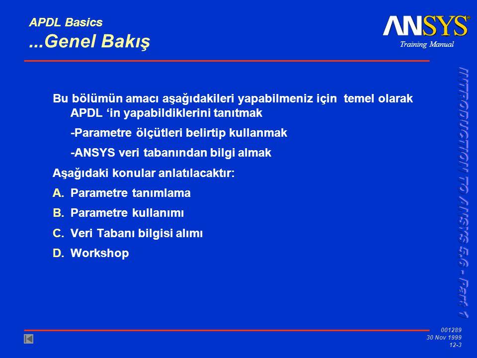 APDL Basics ...Genel Bakış