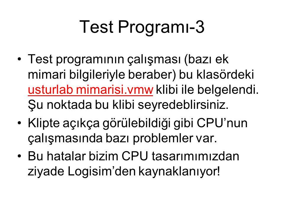 Test Programı-3