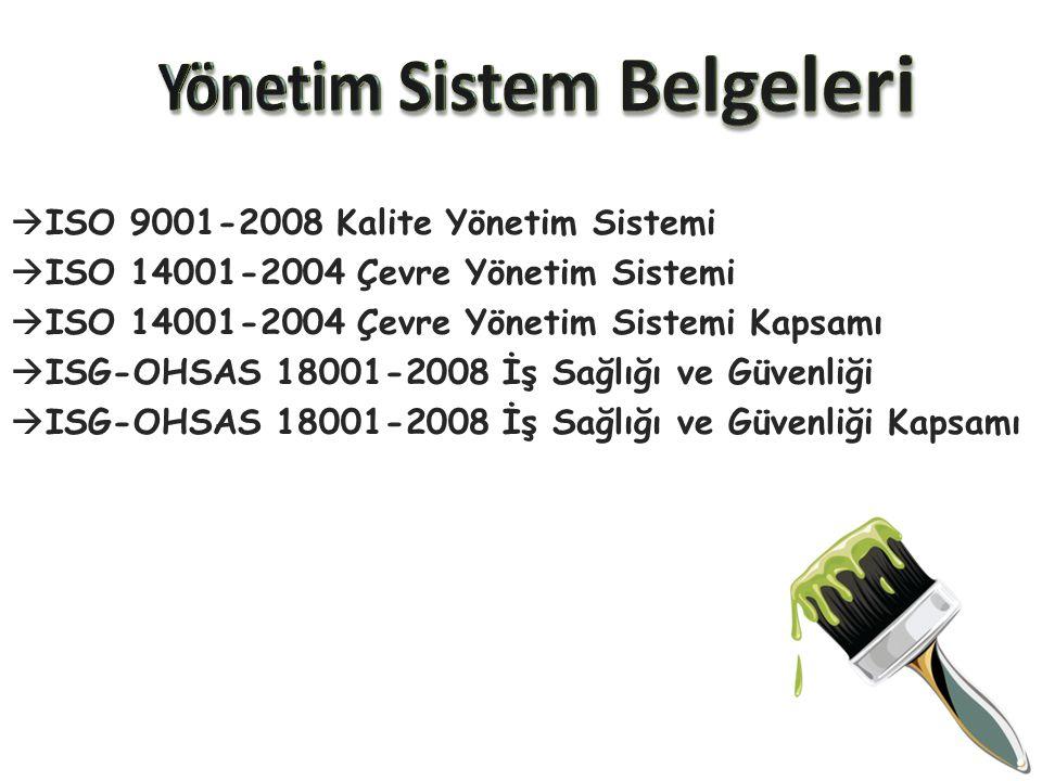 Yönetim Sistem Belgeleri