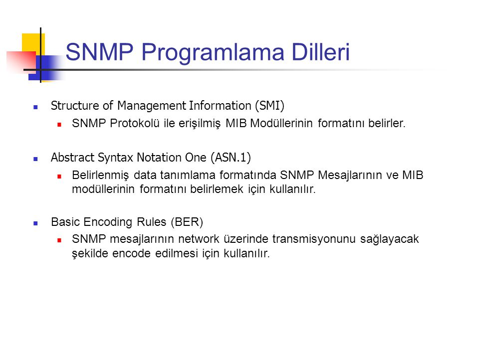 SNMP Programlama Dilleri