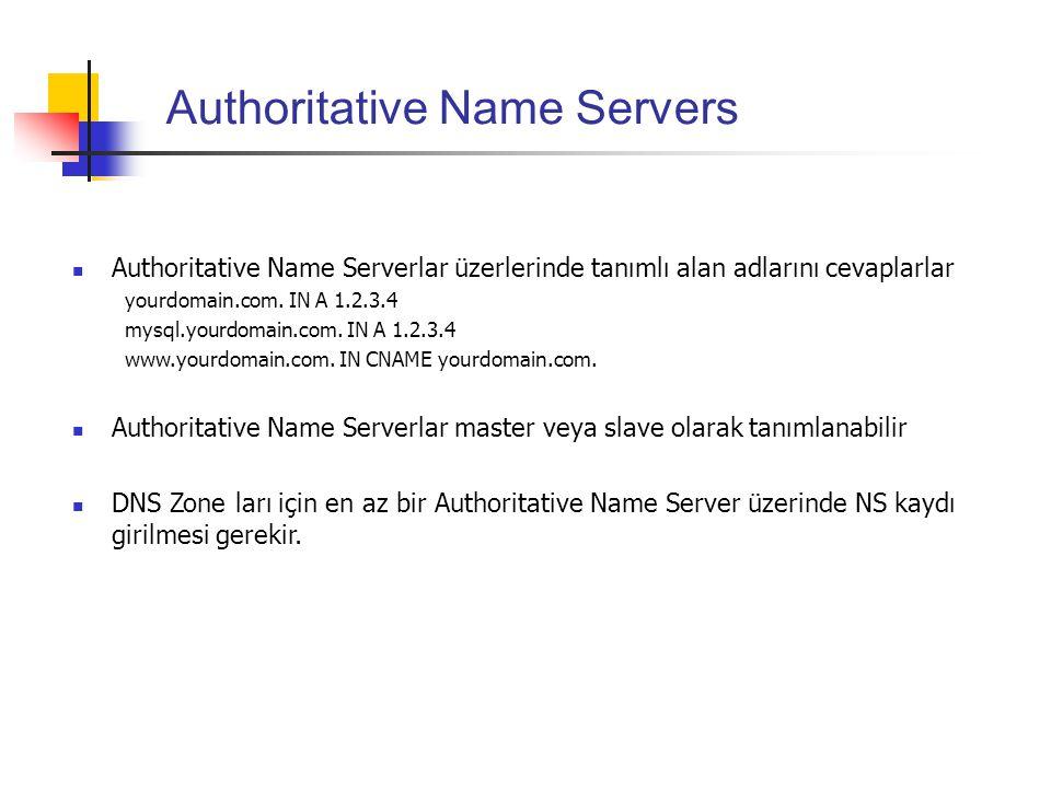 Authoritative Name Servers