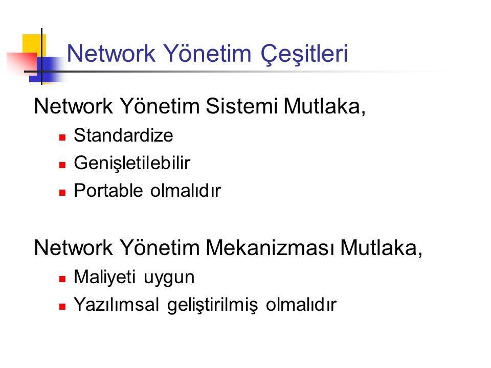 Network Yönetim Çeşitleri