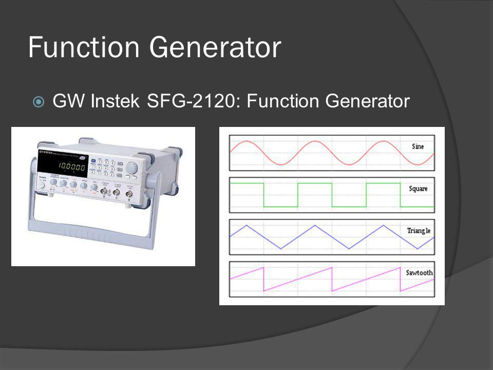 Function Generator GW Instek SFG-2120: Function Generator