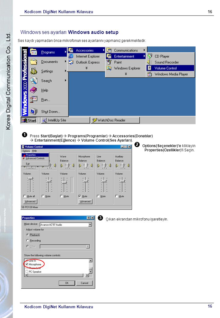 Windows ses ayarları Windows audio setup