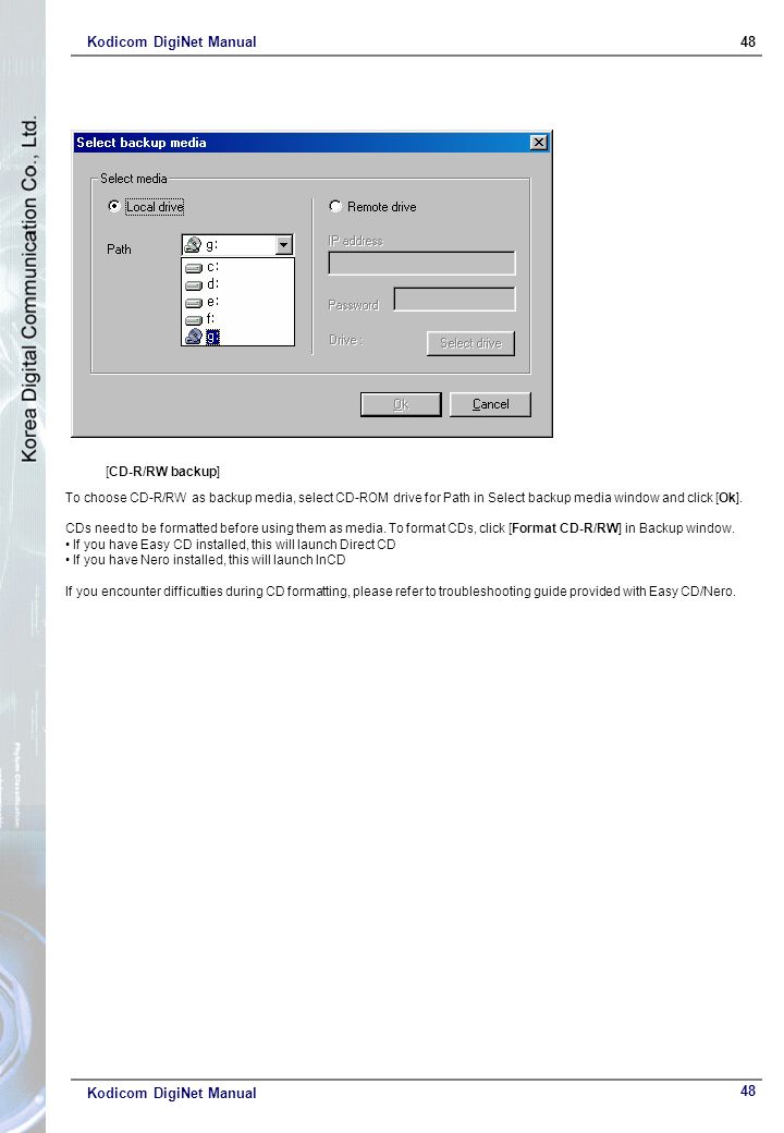 Kodicom DigiNet Manual 48