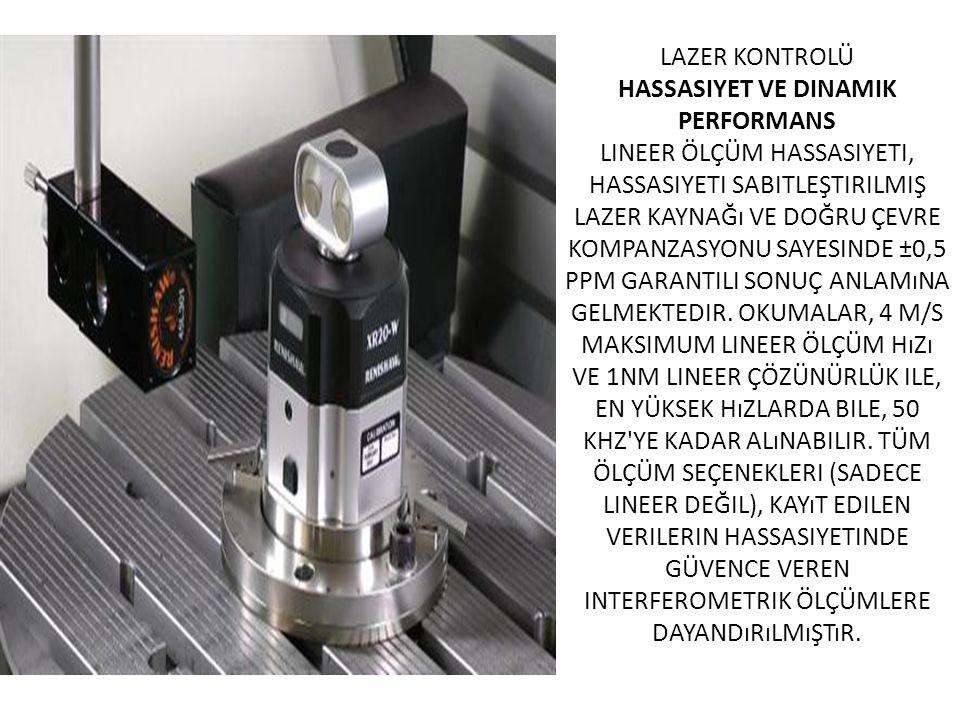 Lazer kontrolü Hassasiyet ve dinamik performans Lineer ölçüm hassasiyeti, hassasiyeti sabitleştirilmiş lazer kaynağı ve doğru çevre kompanzasyonu sayesinde ±0,5 ppm garantili sonuç anlamına gelmektedir.