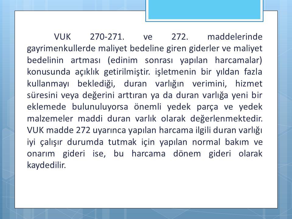 VUK 270-271. ve 272.
