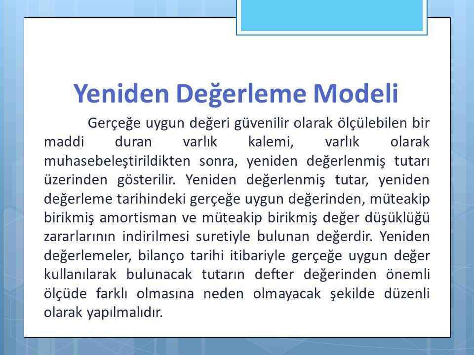 Yeniden Değerleme Modeli