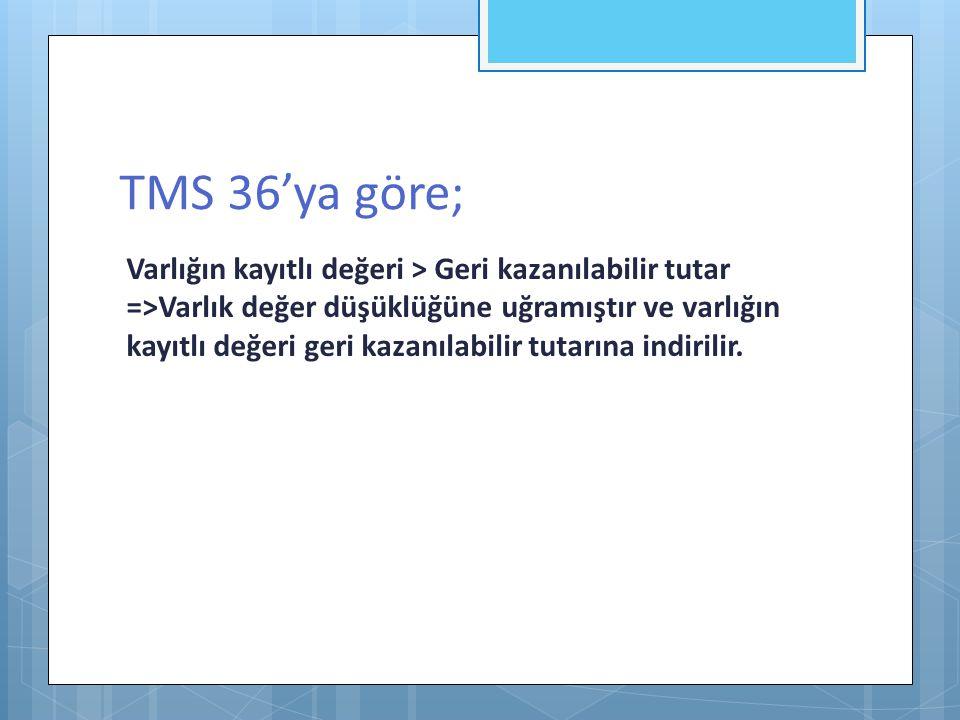 TMS 36'ya göre;