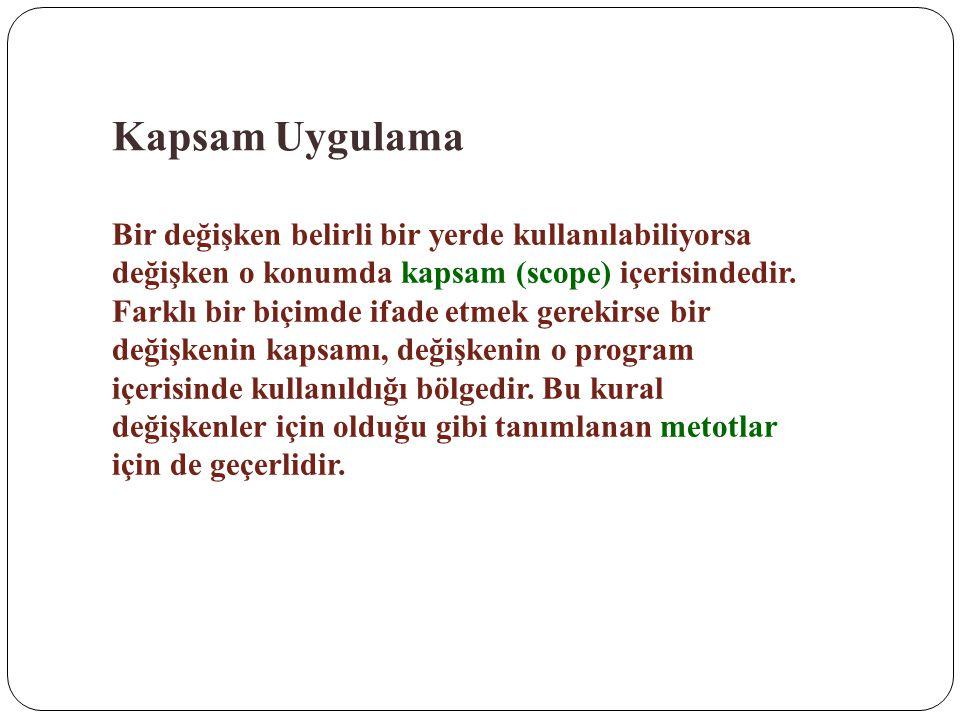 Kapsam Uygulama
