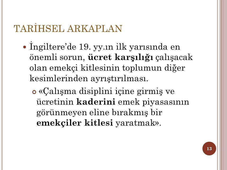TARİHSEL ARKAPLAN
