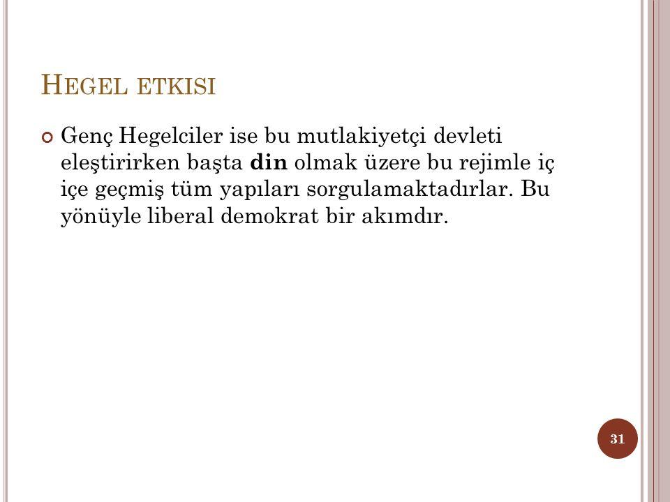 Hegel etkisi