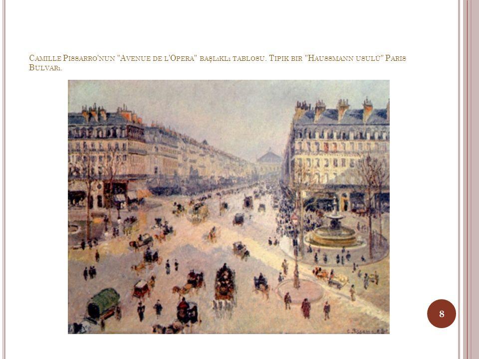 Camille Pissarro nun Avenue de l Opera başlıklı tablosu