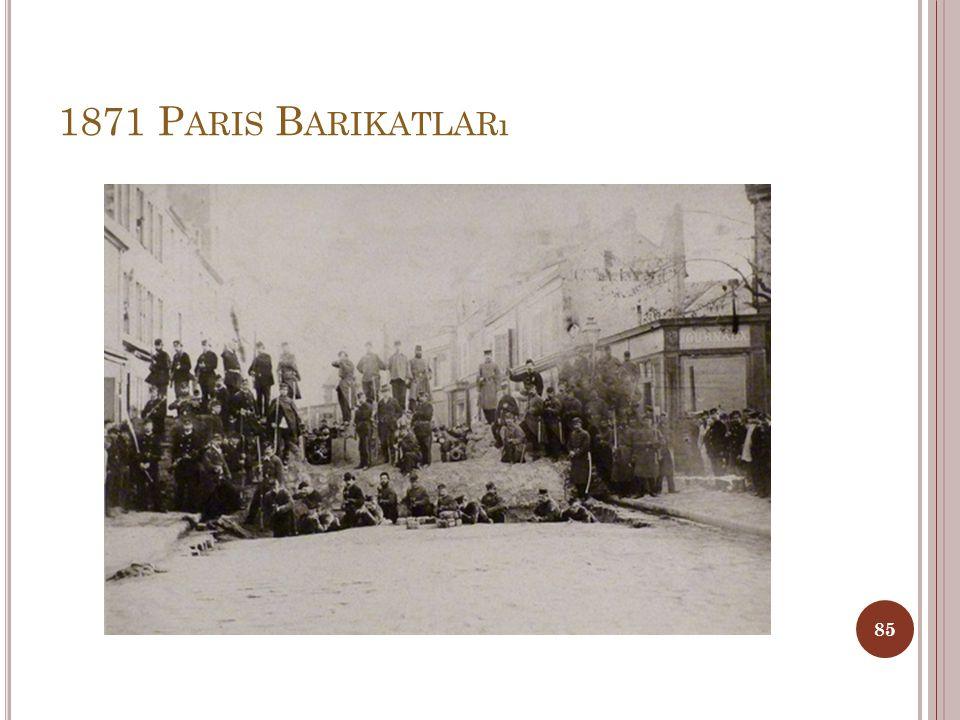 1871 Paris Barikatları