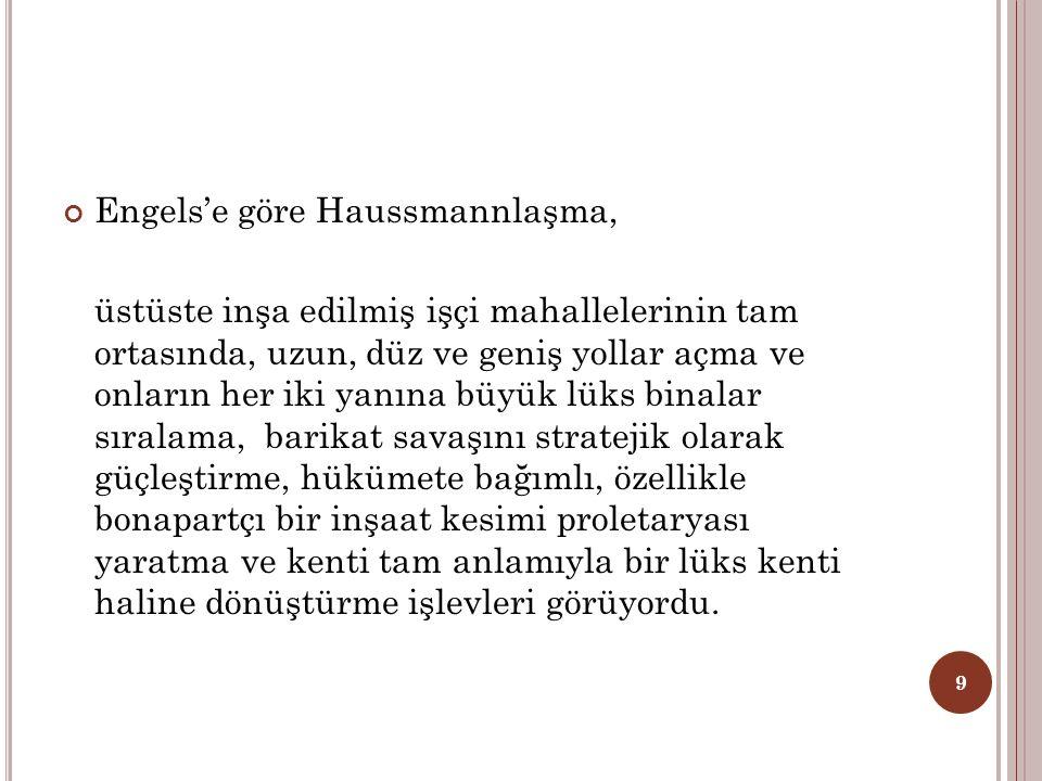Engels'e göre Haussmannlaşma,