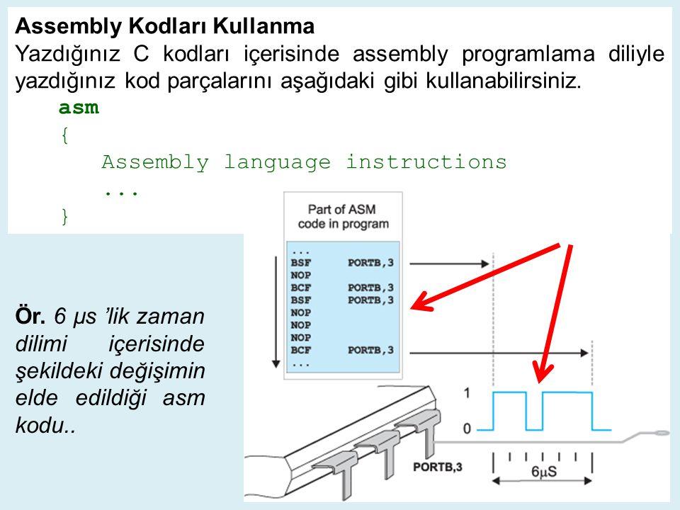 Assembly Kodları Kullanma