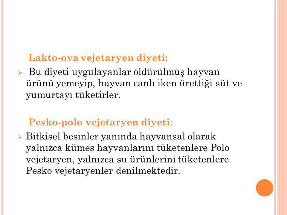 Lakto-ova vejetaryen diyeti: