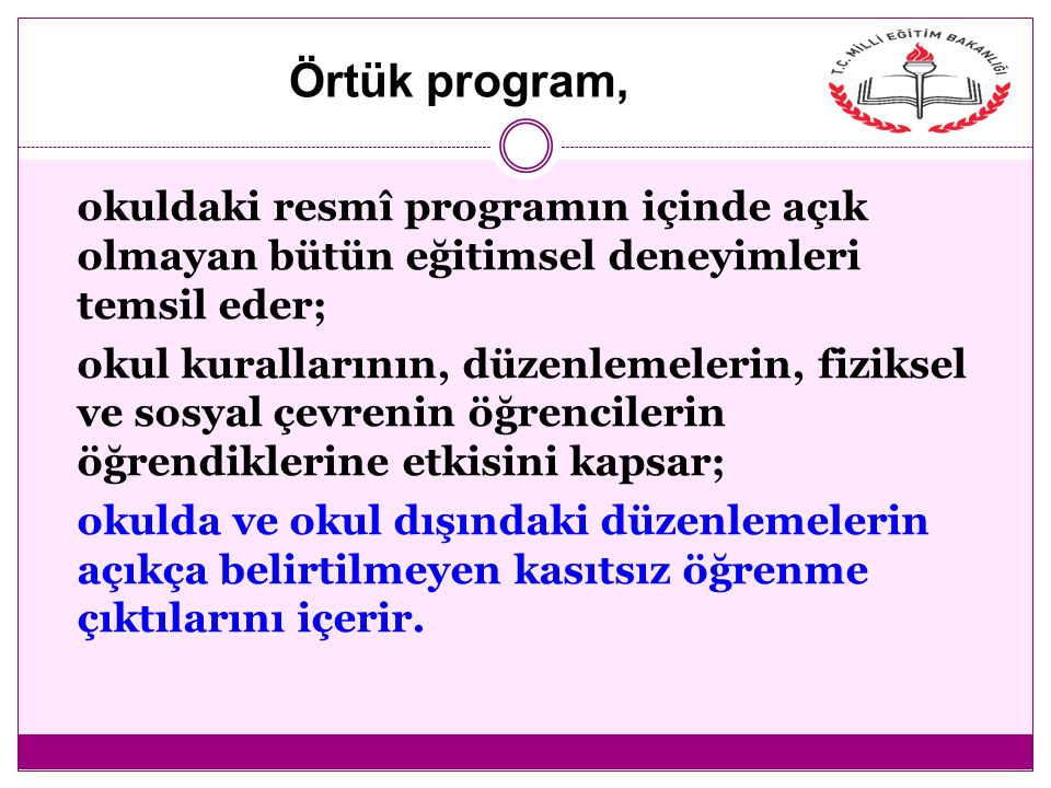 Örtük program,