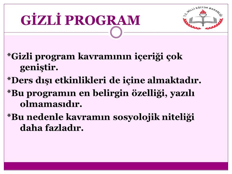 GİZLİ PROGRAM