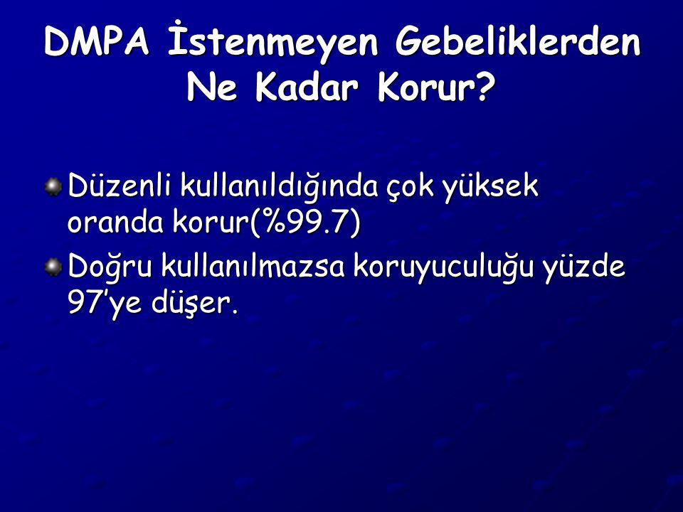 DMPA İstenmeyen Gebeliklerden Ne Kadar Korur