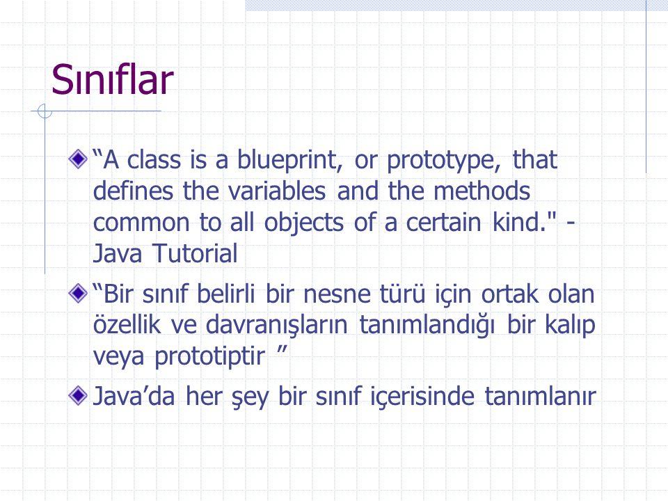 Sınıflar