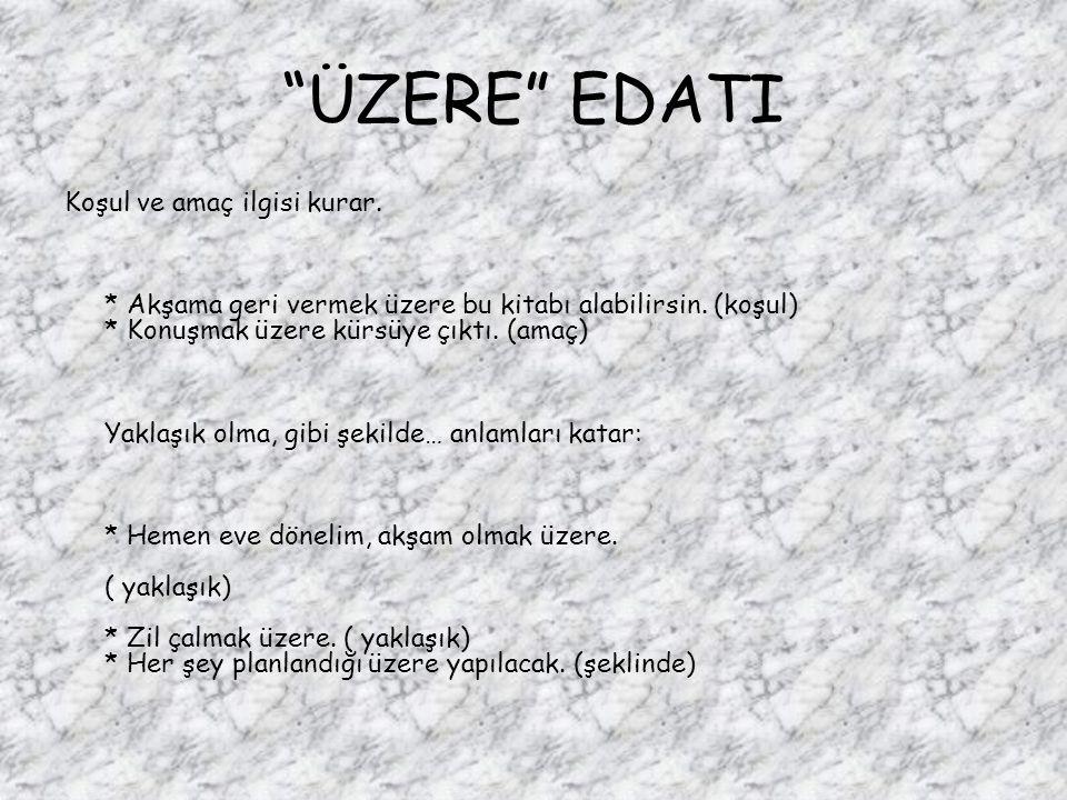 ÜZERE EDATI