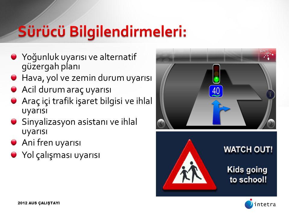 Sürücü Bilgilendirmeleri: