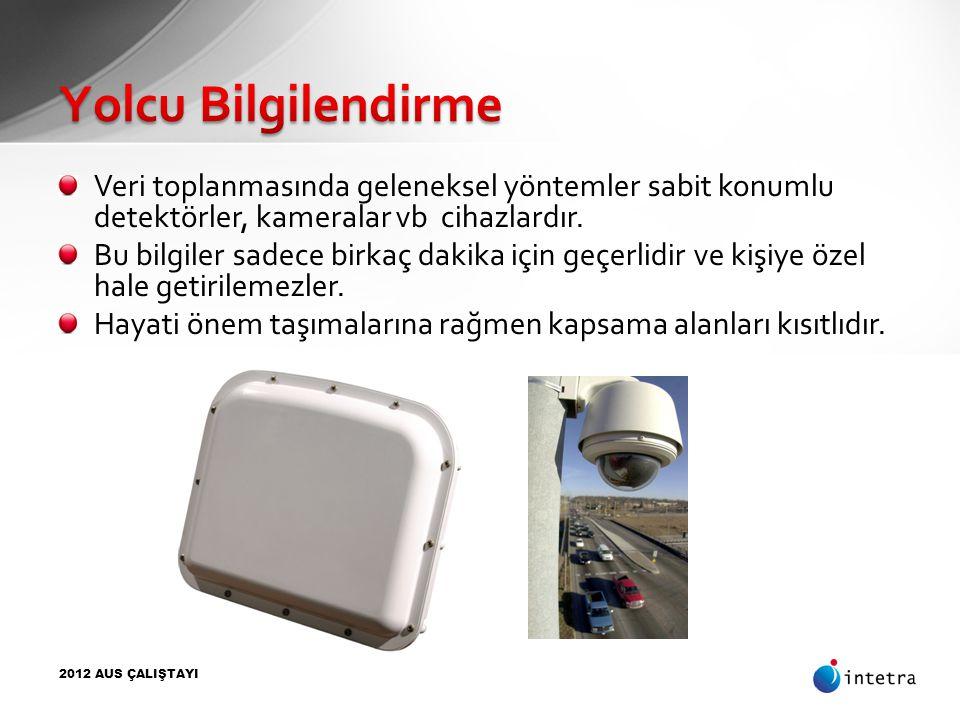 Yolcu Bilgilendirme Veri toplanmasında geleneksel yöntemler sabit konumlu detektörler, kameralar vb cihazlardır.
