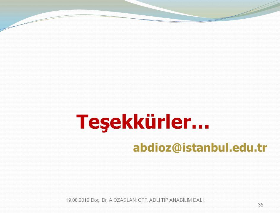 Teşekkürler… abdioz@istanbul.edu.tr