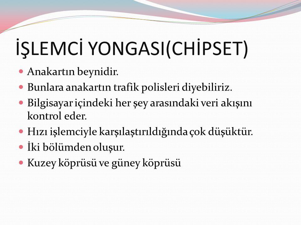 İŞLEMCİ YONGASI(CHİPSET)