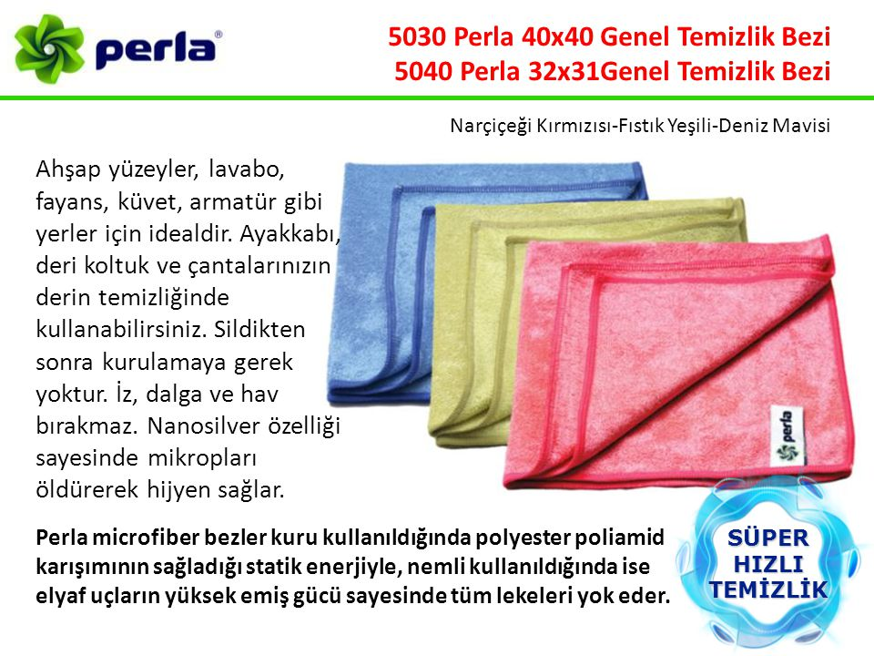 5030 Perla 40x40 Genel Temizlik Bezi