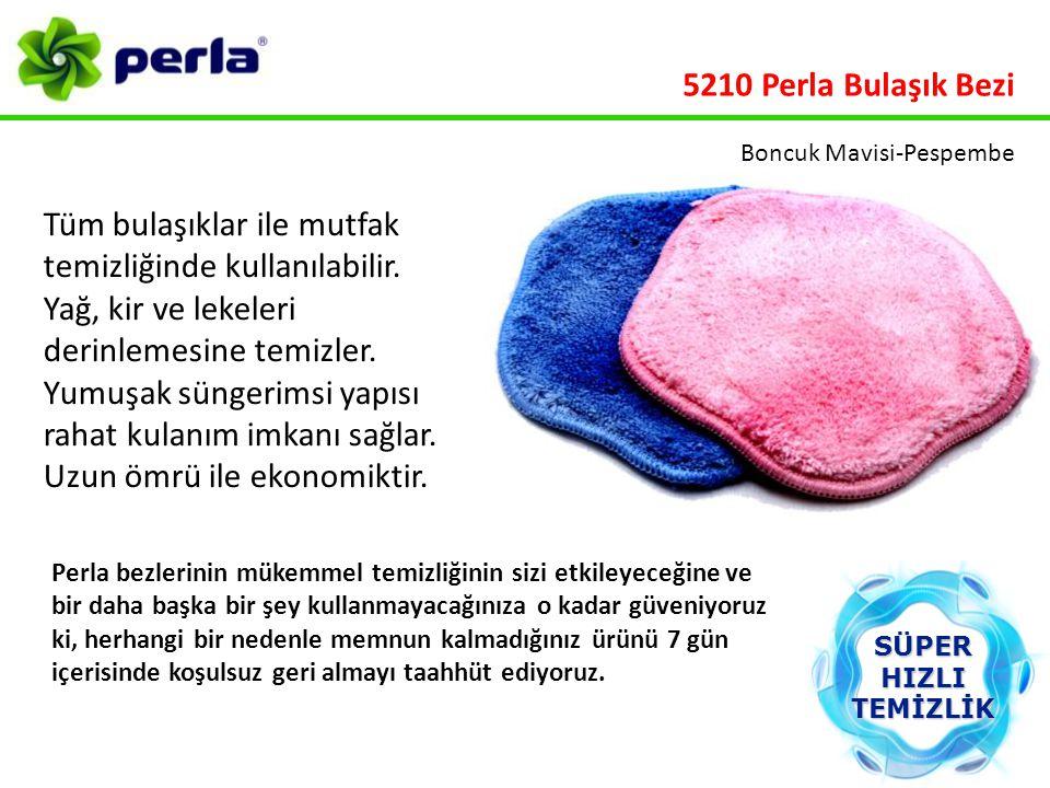 5210 Perla Bulaşık Bezi Boncuk Mavisi-Pespembe.