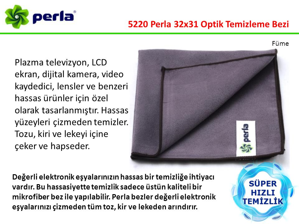 5220 Perla 32x31 Optik Temizleme Bezi