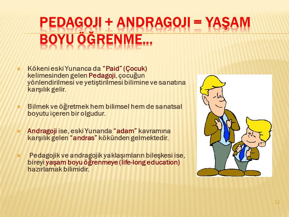 Pedagoji + Andragoji = Yaşam Boyu Öğrenme...