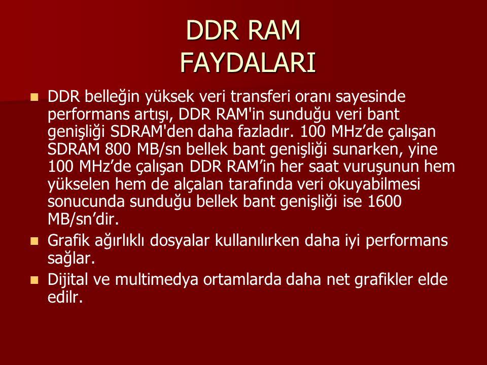 DDR RAM FAYDALARI
