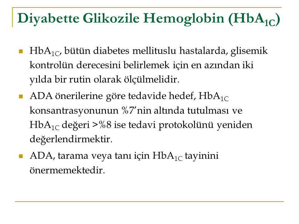 Diyabette Glikozile Hemoglobin (HbA1C)