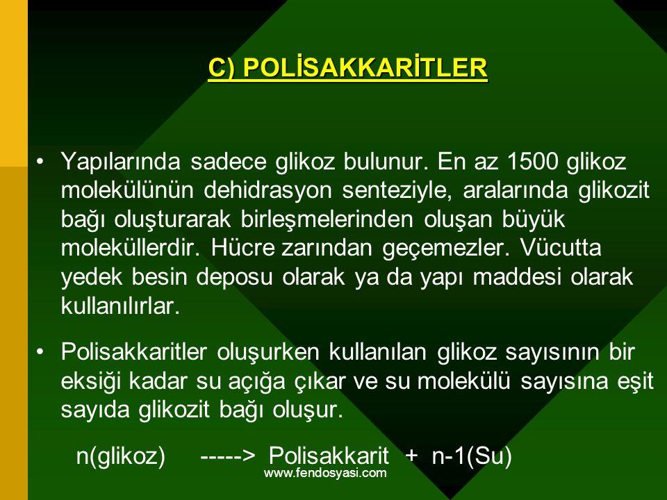 C) POLİSAKKARİTLER