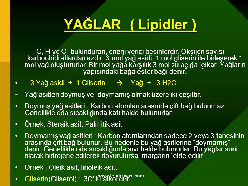 YAĞLAR ( Lipidler )